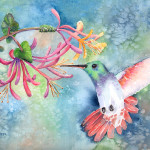 Hummingbird Painting Arline Wagner Little Fine Art