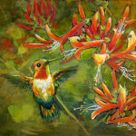 Hummingbird Painting Eileen Fong Loving Fine Art