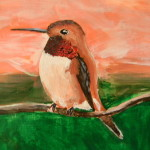 Hummingbird Painting Sweezamuffin Deviantart