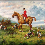 Hunting Oil Painting Fox Scent Reproduction For Sale