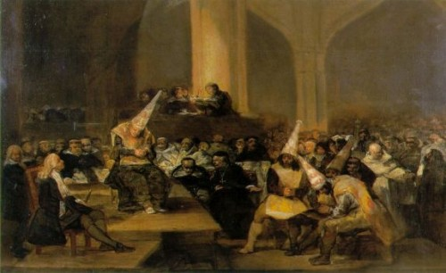 Inquisition Scene Francisco Goya Oil Painting Reproduction
