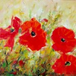Ioan Popei Poppies Painting Frame