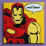 Iron Man Pop Art Painting Baby