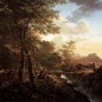 Italian Landscape Draughtsman Painting Jan Both Oil