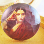 Items Similar Glass Art Cabochon Raja Ravi Varma Expectation