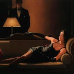 Jack Vettriano Paintings Along Came Spider Painting