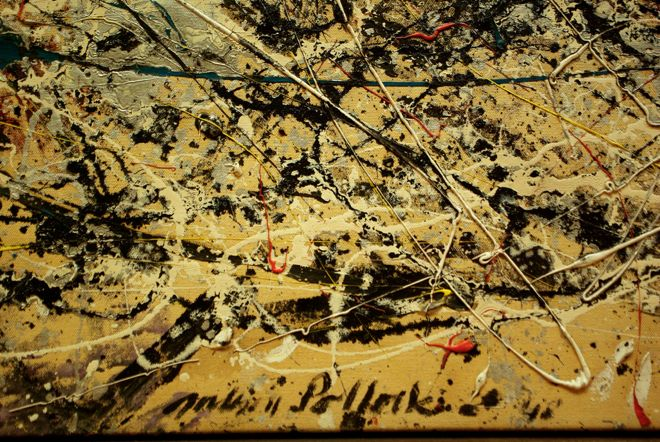 Jackson Pollock Famous For His Deceptively Random Seeming Drip