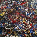 Jackson Pollock Inspired Painting Untitled