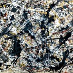 Jackson Pollock Paintings Silver Black Painting