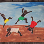 Jacob Lawrence Inspired Hello Kitty Painting Artcutie Etsy