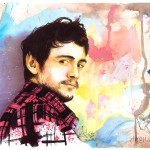 James Franco Watercolor Ink Anguianoart Traditional Art Paintings
