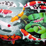 Japanese Art Gallery For Sale Koi Fish