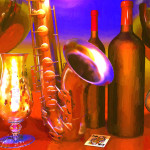 Jazz Wine Painting Art For Sale