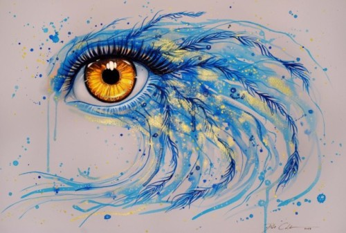 Jodicke Adds Bird Feathers This Watercolor Painting Golden Eye