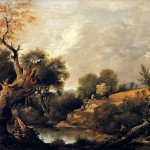 John Constable Paintings The Harvest Field Painting