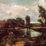 John Constable Paintings Water Mill Painting