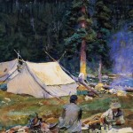 John Singer Sargent Paintings Camping Lake