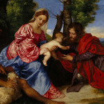 John The Baptist And Unidentified Saint Titian