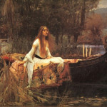 John William Waterhouse Lady Shallot Painting