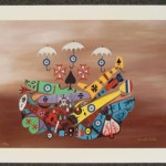 Jonathan Winters Signed Art Print Day They Got Wings Lot