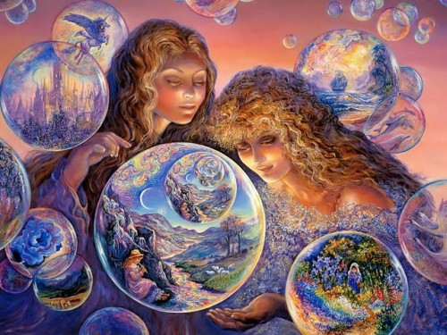 Josephine Wall Fantasy Art Paintings Bubble World