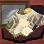 Juan Gris Table Devant Huile Reproduction
