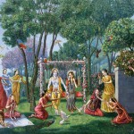 Julian Yatra Spiritual Art Vedic Oil Painting Figures