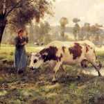Julien Dupre Cows Pasture Painting Framed Paintings For Sale