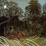 Jungle Lion Henri Rousseau Wikipaintings