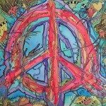Just Give Peace Psychedelic Dreams Singleton Hippie Art