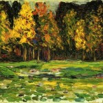 Kandinsky Waldrand Painting Wassily Paintings For