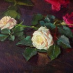 Kerry Dunn Studio Small Rose Paintings Alla Prima