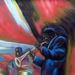 King Modern Jazz Black Art Oil Painting