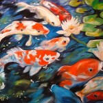 Koi Original Oil Painting Baldwin This