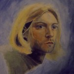 Kurt Cobain Kilie Traditional Art Paintings Portraits
