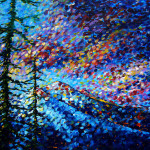 Landscape Contemporary Art Madart Mountain Glory Painting