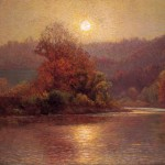 Landscape Oil Painting The Closing Autumn