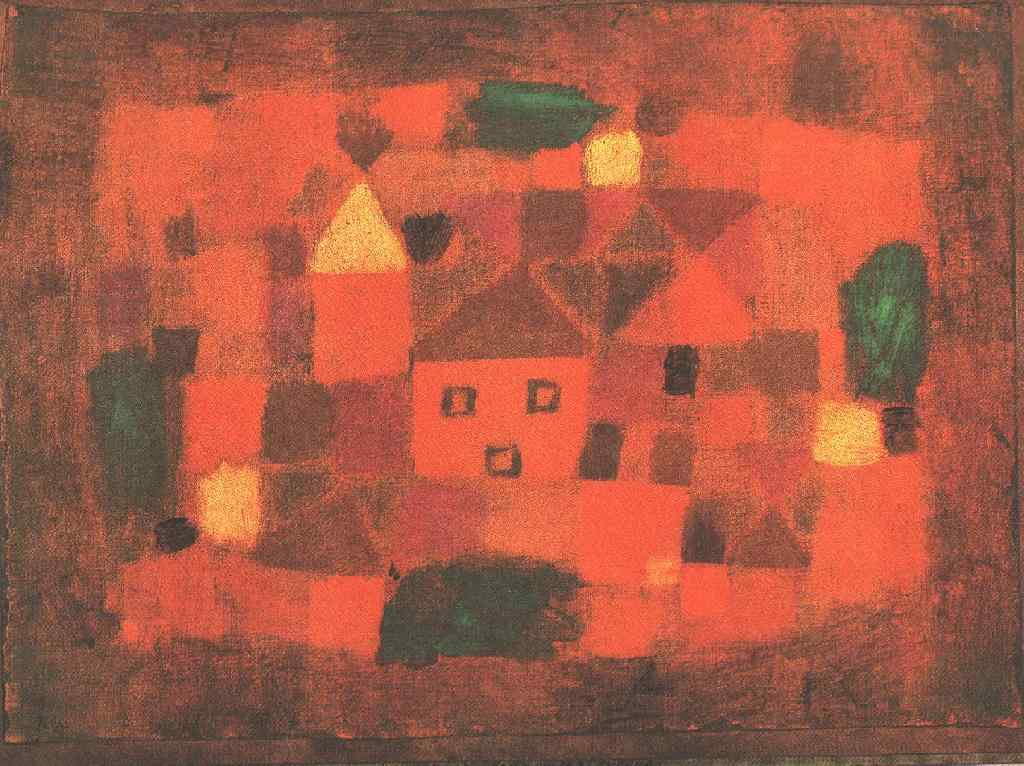 Landscape Sunset Paul Klee Wikipaintings