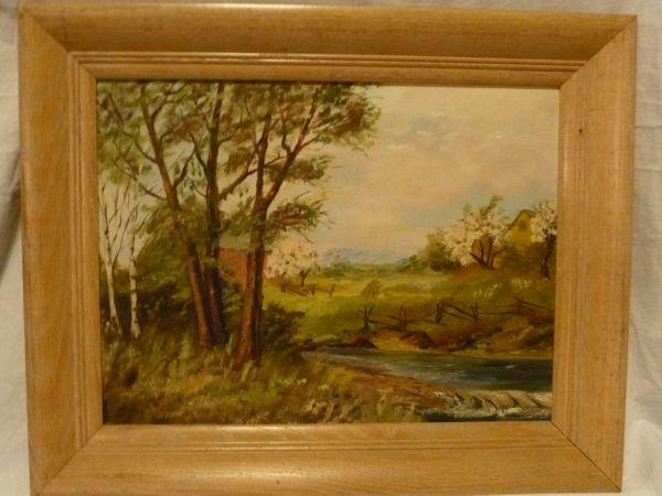 Large Canadian Landscape Paintings Oil For Sale Whitby Ontario Pic
