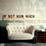 Large Motivational Wall Art Not Now When Spacebarn Contemporary