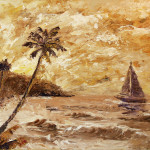 Large Sailboat The Hawaiian Coast Oil Painting Fine Art Prints And