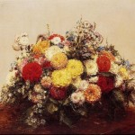 Large Vase Dahlias And Assorted Flowers Painting Best Paintings