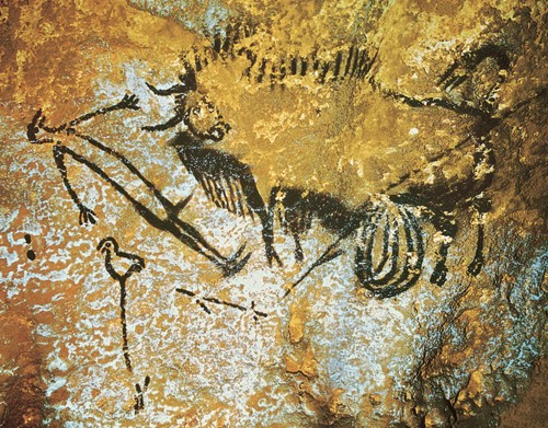 Lascaux Cave Bird Man And Bison