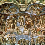 Last Judgement From The Sistine Chapel Painting