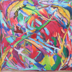 Lauren Marems Art Abstract Large Painting Tropical Jungle