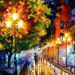 Leonid Afremov Romantic Night Fine Art Prints And Posters For Sale