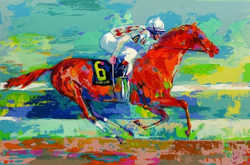 Leroy Neiman Funny Cide Painting Best Paintings For Sale
