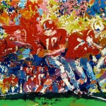 Leroy Neiman Paintings Alabama Handoff Painting