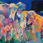 Leroy Neiman Paintings Elephant Painting