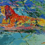 Leroy Neiman Paintings Kenya Leopard Painting